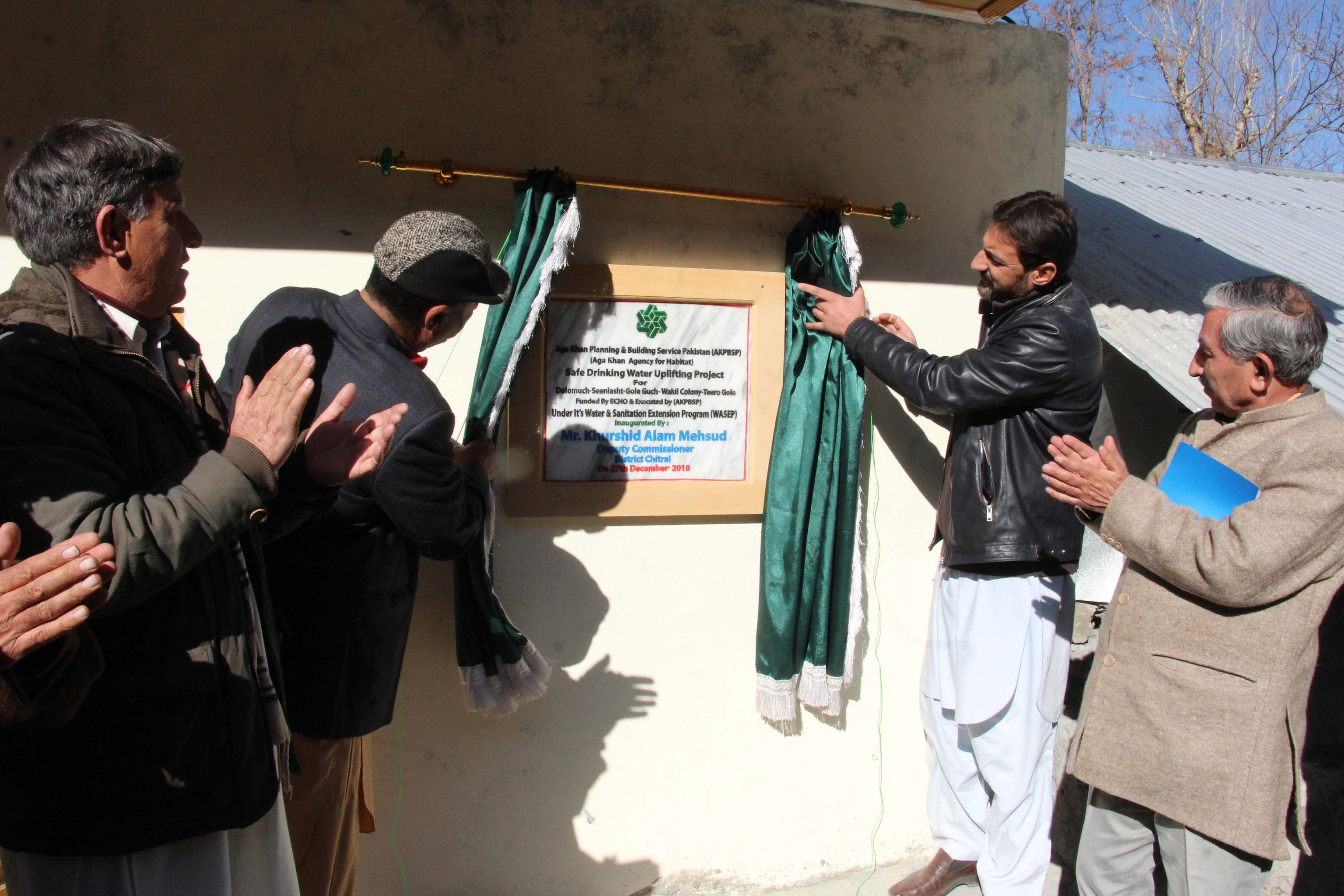 water supply scheme being inaugurated
