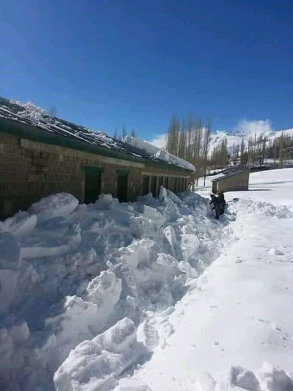 Heavy snowfall at Khot Chitral