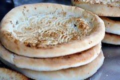 Refined flour bread naans